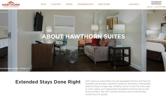 Wyndham Hawthron Suites Rebrand