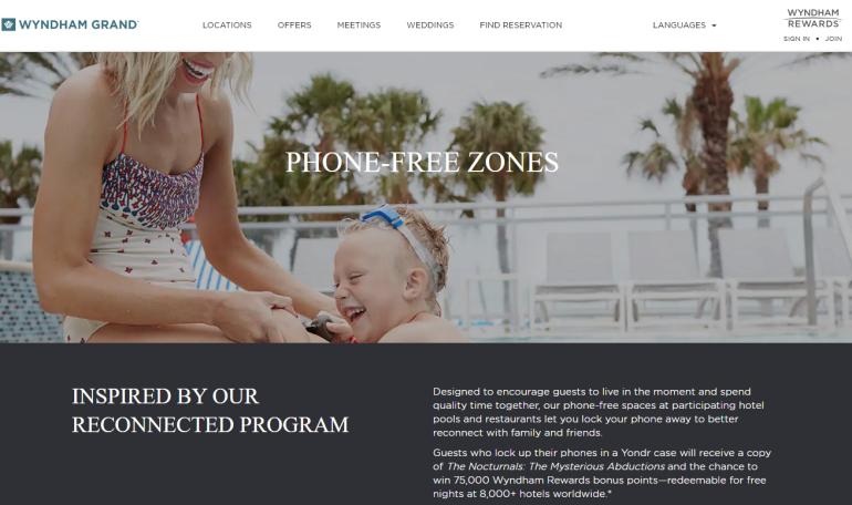 Wyndham Phone Free Zones